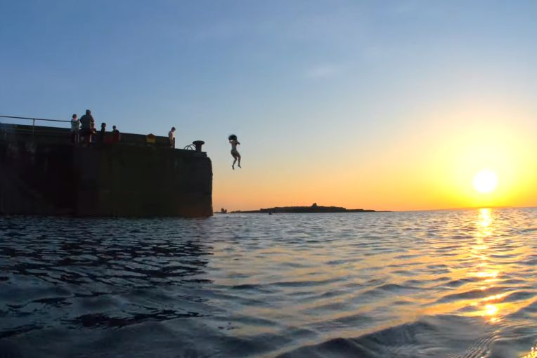 Sunset Swim at Doolin Pier - Photo by Kevin Smith via Doolin Tourism