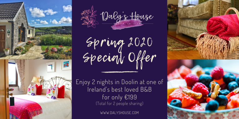 Daly's House Doolin co. Clare Special Offer - Accommodation Bed and Breakfast on Ireland's Wild Atlantic Way